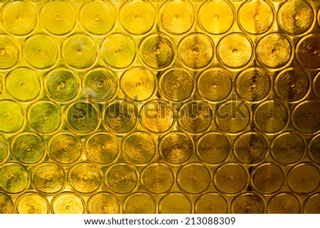 Yellow glass abstract background - stock photo