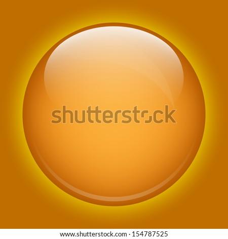 yellow glass sphere glow - stock photo
