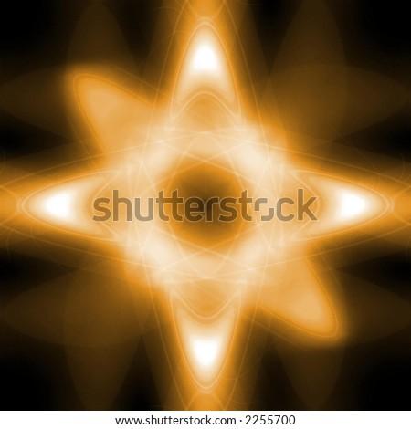 Yellow Glowing Star - stock photo
