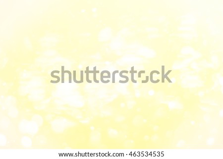 Yellow Gold bokeh and abstract background , abstract blur bokeh light with pastel color tone background