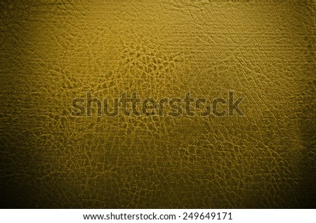 Yellow gold leather texture - stock photo