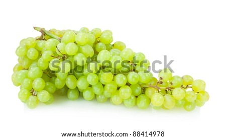 yellow grape isolated on white background - stock photo