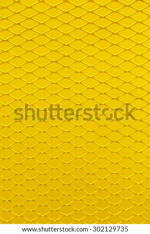 Yellow grating steel for background - stock photo