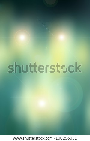 Yellow, green, abstract background based on a real photo of mine. - stock photo