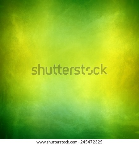 yellow green colorful background , smooth gradient distressed vintage grunge background texture design with bright spot - stock photo