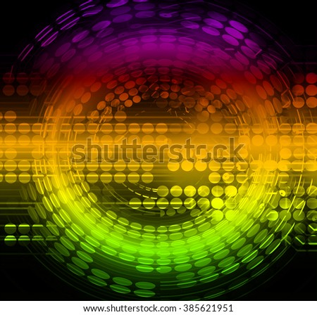 yellow green purple Circle wave illustration of technology internet network computer background with binary,style. infographics. Information. motion blur. pixel. Binary digit. number. web wabsite tech