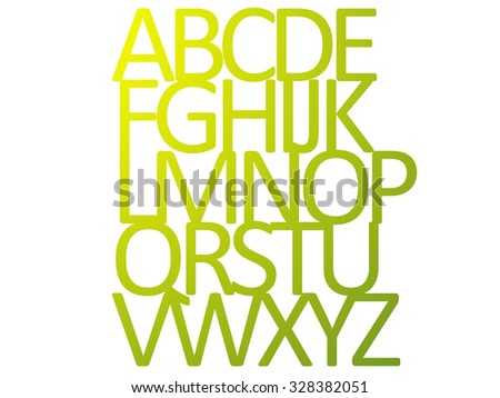 Abcdefghijklmnopqrstuvwxyz stock images royalty free images yellow green silhouette alphabet abcdefghijklmnopqrstuvwxyz sciox Choice Image