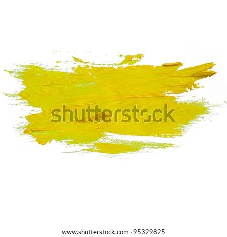 yellow green watercolors spot blotch isolated