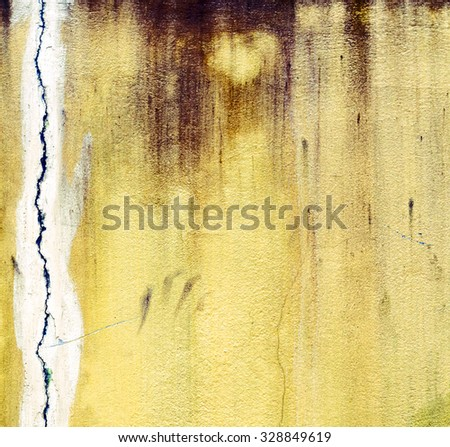 yellow grunge wall stone texture old background - stock photo