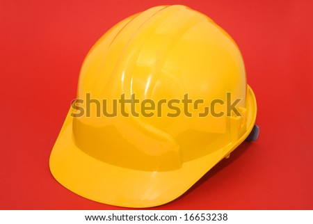 yellow hard hat - stock photo