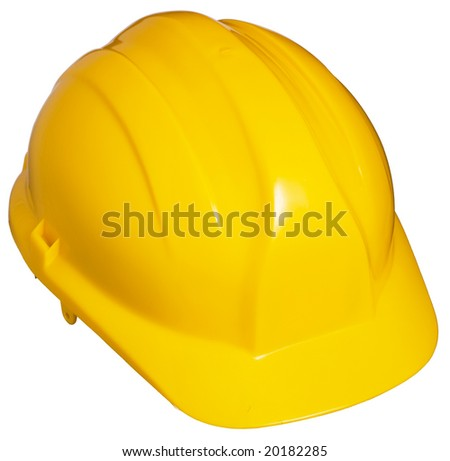 Yellow Hard Hat. Isolated - stock photo