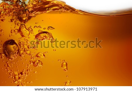 yellow juice - stock photo