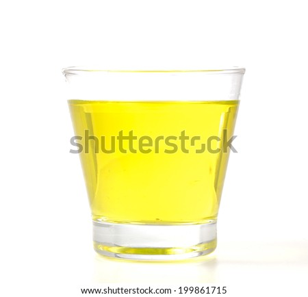 Yellow juice isolated on white background