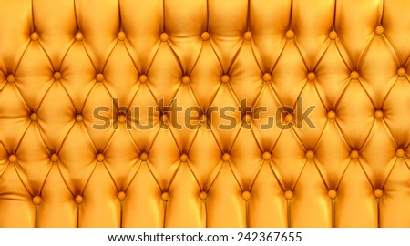 Yellow leather background - stock photo