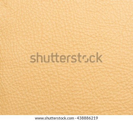 Yellow leather macro shot texture for background - stock photo