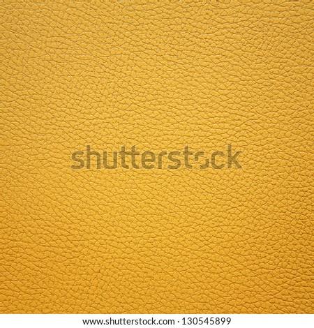 Yellow leather texture - stock photo