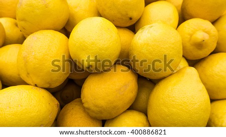 yellow lemons textures backgrounds.  Group of fresh lemons.