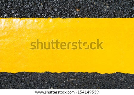 yellow line on road texture - stock photo