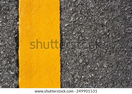 yellow line on the road texture background