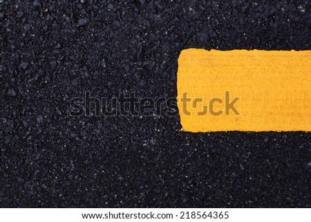 yellow line sign - stock photo