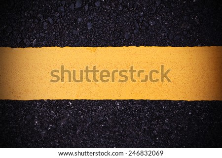 yellow line sign - stock photo