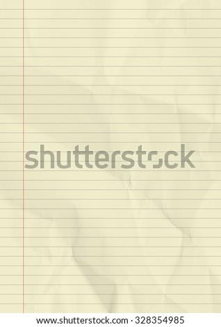 Yellow lined paper texture background.