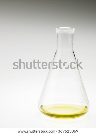 yellow liquid in a flask