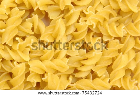 yellow macaroni, vermicelli - stock photo