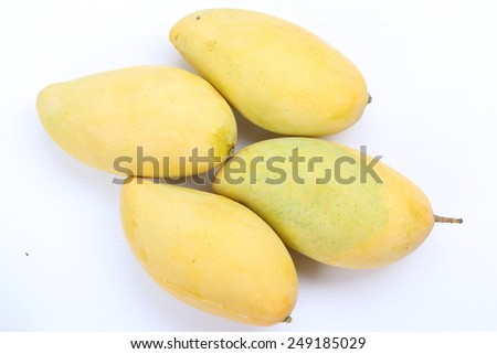 yellow mango on the background