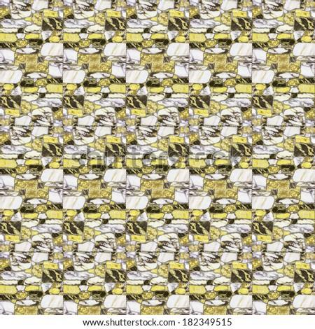 yellow marble floor tiles - stock photo