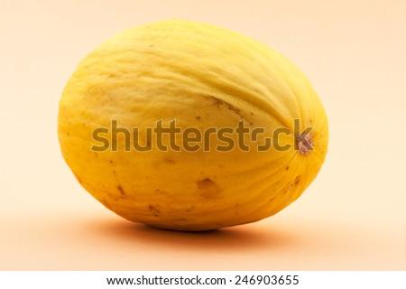 Yellow melon on table. - stock photo