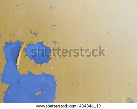 Yellow metal crack plate texture background