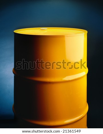 Yellow metal drum on seamless background