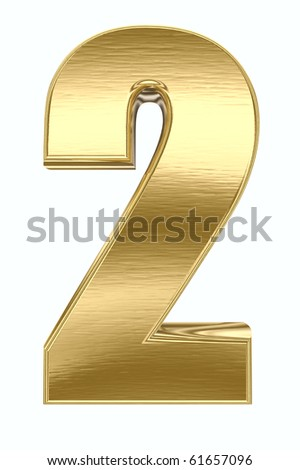 Yellow metal number - stock photo