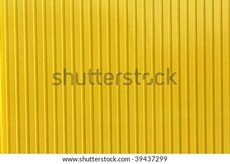 yellow metal plate background - stock photo