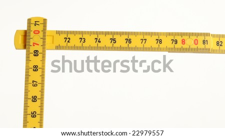 yellow meter on white background - stock photo
