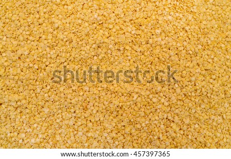 yellow millet cereal flakes texture pattern background