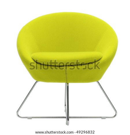 yellow modern chair - stock photo