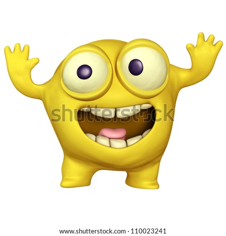 yellow monster - stock photo