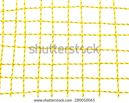 yellow network on white background - stock photo