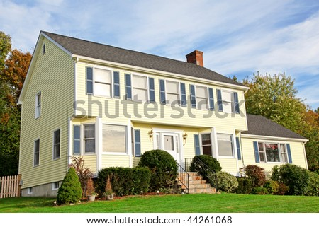 Colonial style stock images royalty free images vectors for New england colonial style