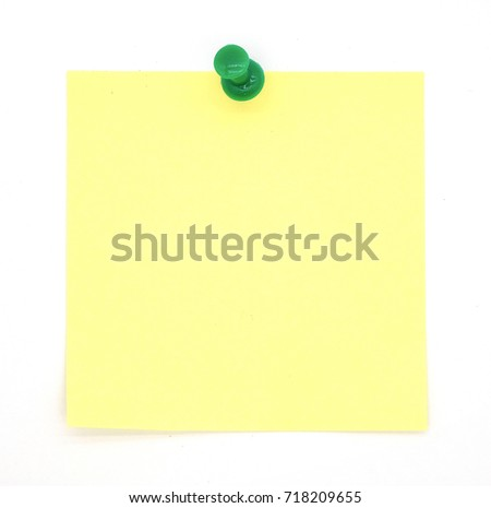 yellow note pad isolated on white background.