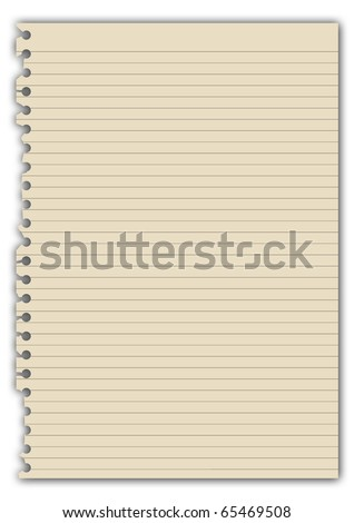 Yellow Note Paper illustration - stock photo