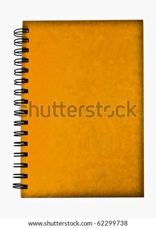 Yellow notebook - stock photo