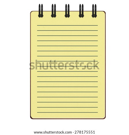 yellow notepad with line