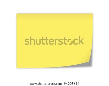 yellow notepaper - stock photo