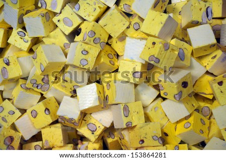 yellow nougat                   - stock photo