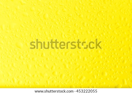 Yellow of water drop  background