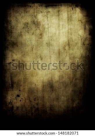 yellow old grungy paper background - stock photo