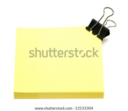 yellow pages of notebook on white - stock photo